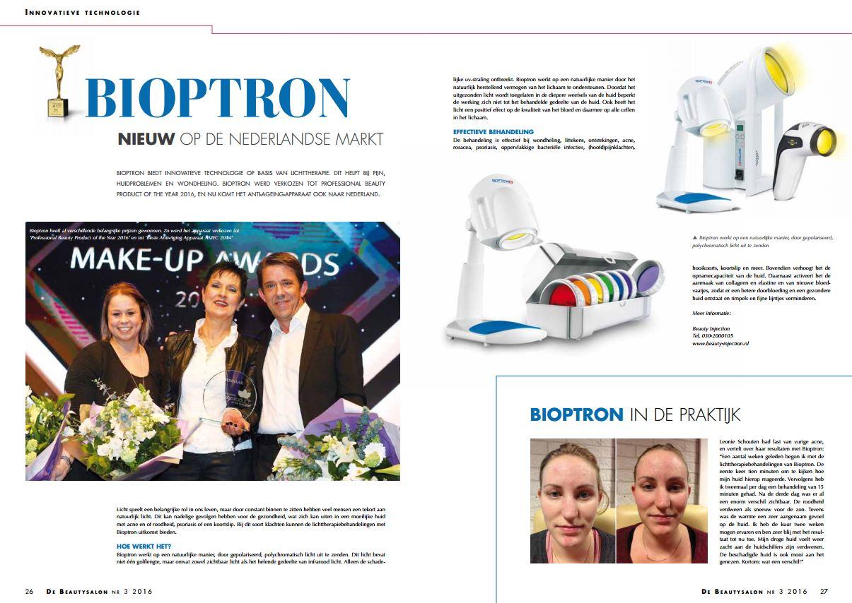Bioptron Lichttherapie Advertorial in De Beautysalon